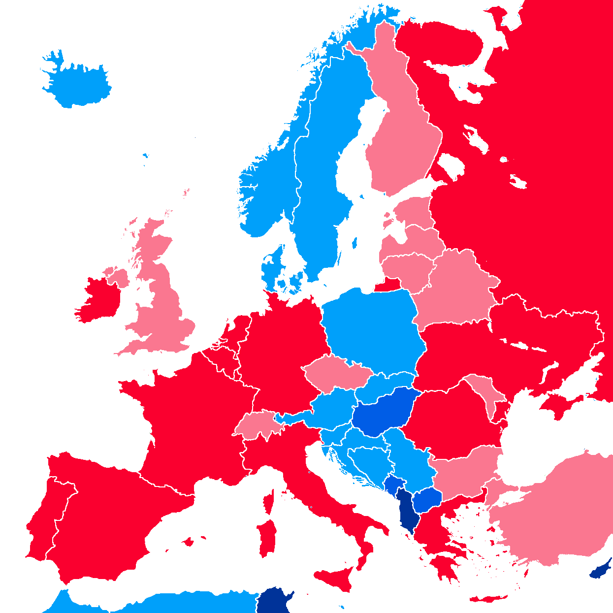 EURAO map